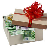 Box with a money. Festive box with a money Stock Image