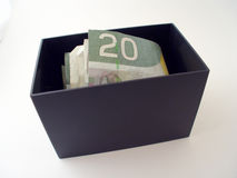 Box with Money Stock Photo