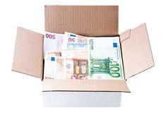 Box with money Stock Image