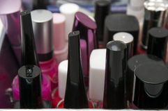 Box nail paint accessories Stock Photo