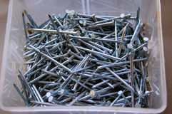 Box of Nails Stock Images