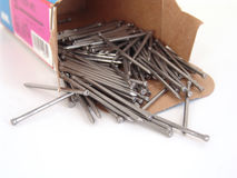 Box of nails Royalty Free Stock Photos