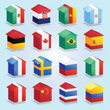 The box of nations flag. Stock Images