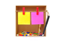Box with note Royalty Free Stock Image