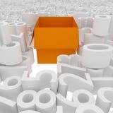 Box number. 3d box concept metaphors and figures Stock Photos