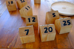 Box number made from wood Stock Photos