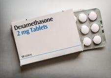 Free Box Of Dexamethasone Tablets Royalty Free Stock Photography - 187126327