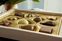 Box Of Tasty Chocolates - A Gift For Her Royalty Free Stock Image