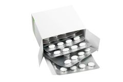 Box Of The Pills Royalty Free Stock Photos