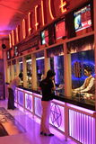 Box Office. Thai people buying movie tickets at Central Rama 3 theatre, Bangkok, Thailand stock photography