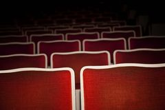 Box office bomb-empty theatre seats Stock Images