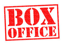 BOX OFFICE. Red Rubber Stamp over a white background Royalty Free Stock Images