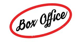 Box Office rubber stamp. Grunge design with dust scratches. Effects can be easily removed for a clean, crisp look. Color is easily changed Stock Photo