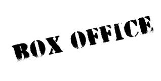 Box Office rubber stamp. Grunge design with dust scratches. Effects can be easily removed for a clean, crisp look. Color is easily changed Royalty Free Stock Photos