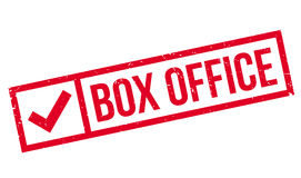 Box Office rubber stamp. Grunge design with dust scratches. Effects can be easily removed for a clean, crisp look. Color is easily changed Royalty Free Stock Photo