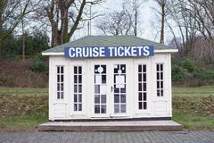 Cruise ferry boat trip island hopping tickets for sale at box office Loch Lomond Scotland uk. Box office selling tickets for cruise ferry boat trip at Loch Stock Photos
