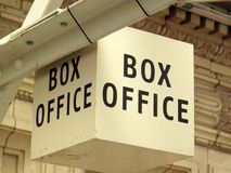 Box Office sign Stock Photo