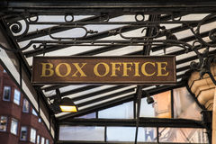 Box Office Sign Stock Photography