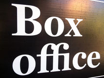Box Office sign Stock Images