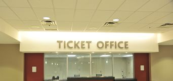 Box office ticket counter Royalty Free Stock Photography