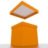 Box open. Open 3d box abstract concepts Royalty Free Stock Photos