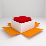 Box open. Open 3d box abstract concepts Stock Image