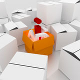 Box open. Open 3d box abstract concepts Stock Images