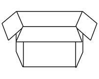 Box open isolated flat icon. Stock Photo