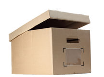 Box with opened cover Stock Photography