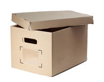 Box with opened cover Stock Image