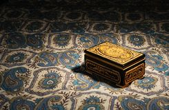 Box with ornaments royalty free stock photography