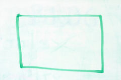Box outline on whiteboard Stock Image