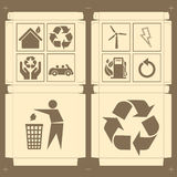 Box package eco sign vector Stock Photography