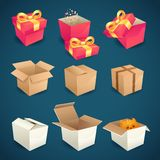 Box and package icons Stock Photos