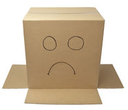 Box package wrap face Stock Photo