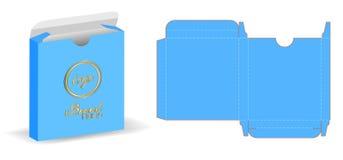 Box packaging die cut template 3d mockup. A box packaging die cut template 3d mockup Stock Photo