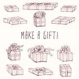 Box Packing Gift Set Stock Image