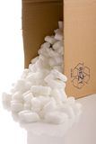 Box with packing materials Stock Photos