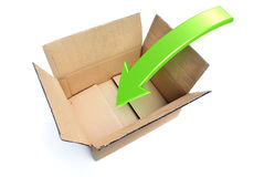 Box Packing Rendered Illustration Stock Photos