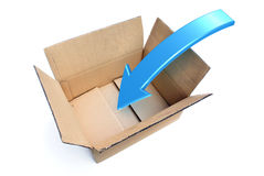 Box Packing Rendered Illustration Royalty Free Stock Photography