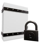 Box and padlock Royalty Free Stock Images