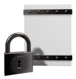 Box and padlock Stock Images