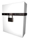 Box and padlock Royalty Free Stock Photography