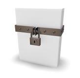 Box and padlock royalty free illustration