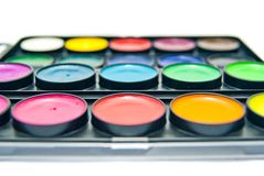 Box of paints Stock Image