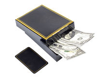 Box and paper money Royalty Free Stock Image