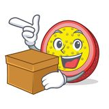 With box passion fruit character cartoon. Vector illustration Royalty Free Stock Image