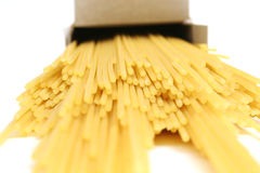 Box of pasta upclose Stock Photography