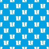 Box pattern seamless blue. Box pattern repeat seamless in blue color for any design. Vector geometric illustration Royalty Free Stock Photo
