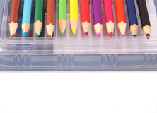 Box of pencils Royalty Free Stock Photography